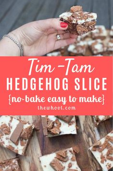 This No Bake Tim Tam Hedgehog Slice Recipe is so simple to make and it tastes great. Christmas Truffles, Christmas Food Treats, Christmas Recipes, Christmas Baking, Bake Off Recipes, Baking Recipes, Jelly Slice, No Bake Slices, Chocolate Slice
