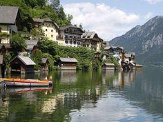 A copy of the Austrian Village Hallstatt was build in China