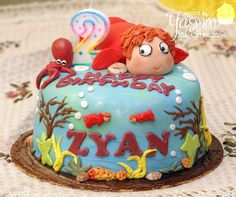"""""""Ponyo on the Cliff by the Sea"""" cake 