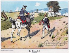 Frederick the Great greets a wounded Prussian fusilier at the battle of Burkersdorf.