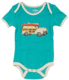Hatley Bodysuit - Surf's Up.  Click to see how cute the back of this onsie is at Diapers.com.