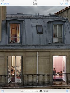 Looking through windows....   slumber party ??