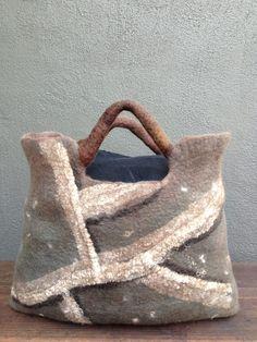 Kim Meuli Brown felt bag