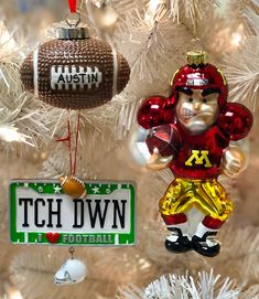 42ed612d491 Personalized Football Christmas Ornaments