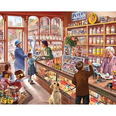 Mountain Puzzles Old Candy Shop - 1000 Piece Jigsaw Puzzle