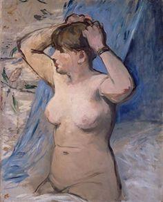 Femme nue se coiffant By Édouard Manet ,1879