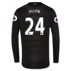 Liverpool 16-17 Joe #Allen 24 Udebanesæt Lange ærmer,245,14KR,shirtshopservice@gmail.com