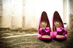 Hot Pink Bridal Shoes - Photo Source • Cory Ryan Photography