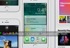 Las nuevas notificaciones de iOS 10 también funcionarán en iPhone y iPad sin 3D Touch