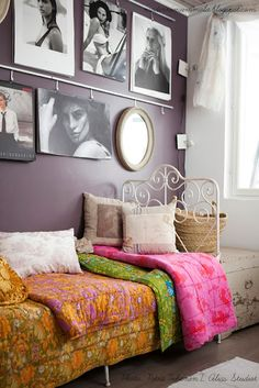 Those quilts are lovely Decor, Furniture, Beautiful Homes, Home Decor, Bed, Inspiration, Bedroom