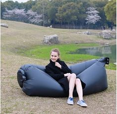 An inflatable sofa.