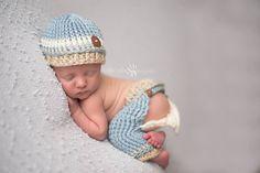 Newborn Boy Peek-a-Boo Pants, Bum Flap Pants, Boy Photography Prop, Newborn Boy Outfit