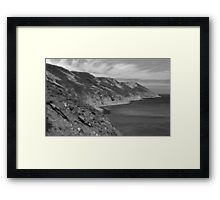 Lundy Island Cliffs Framed Print