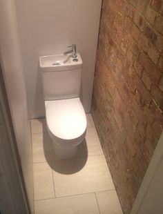 Small space toilet with mini sink, Peckham Small Spaces, Toilet, Sink, Bathroom, Sink Tops, Washroom, Flush Toilet, Vessel Sink, Vanity Basin