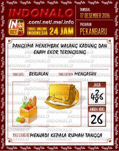Tafsir Lotre 4D Togel Wap Online Live Draw 4D Indonalo Pekanbaru 17 Desember 2016