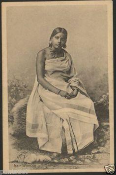 Studio Portrait of a Nair Woman Antique Photos, Vintage Photographs, Vintage Images, Old Photos, Vintage India, History Of India, Art History, Jaisalmer, Udaipur