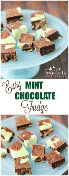 Make our Easy Mint Chocolate Fudge recipe as a great sweet treat that takes only minutes and is the perfect combination of chocolate and mint!
