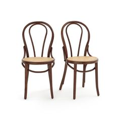 BISTRO Set of 2 Beech and Cane Chairs LA REDOUTE INTERIEURS .Classic style and beautiful curves – these gorgeous chairs are made using the traditional technique of hot-bent wood. English Country Kitchens, How To Bend Wood, Wooden Armchair, Home Furnishing Accessories, Bentwood Chairs, Bent Wood, Bistro Chairs, Foot Pads, Bistro Set