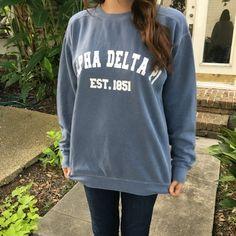 2dbeffb06f Sorority School Team Comfort Colors Crewneck Varsity Sweatshirt