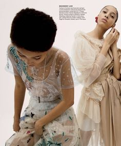 Make one special photo charms for you, 100% compatible with your Pandora bracelets.  Lineisy Montero in Dior and Yasmin Wijnaldum in Simone Rocha for Vogue US March 2017