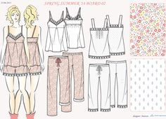 Collection of Sleepwear projects and prints.