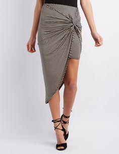 Knotted Asymmetrical Skirt | Charlotte Russe
