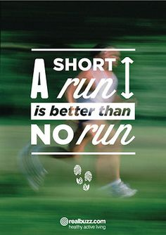 A short run is better than no run! in Northville, MI is a 30 minute full body workout with no class times and a trainer with you every step of the way! The workouts change daily so there is no chance of boredom, and we can keep the workout fun an Citation Motivation Sport, Fitness Motivation, Running Motivation, Daily Motivation, Fitness Quotes, Fitness Tips, Health Fitness, Fitness Facts, Cardio Fitness