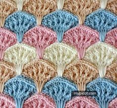 Crochet Shell Textured Stitch Tutorial - (mypicot)