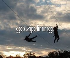 Done! -- go zip lining