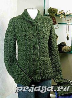 Mujer crochet chaqueta