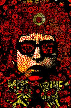 1967. Mr Tambourine Man poster by Martin Sharp.