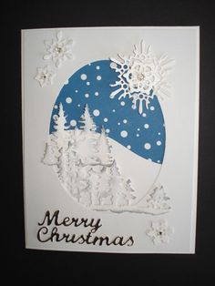 Handmade Christmas Card Kit(5) Dimensional Pieces, Forest, Some Stampin Up Prod. #Handmade #Christmas