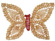 Crocheted Butterfly: free pattern