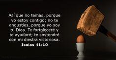 Así que no temas, porque yo estoy contigo; no te angusties, porque yo soy tu Dios. Te fortaleceré y te ayudaré; te sostendré con mi diestra victoriosa.