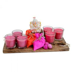 Dryfruits with Scented Candles via @giftcart