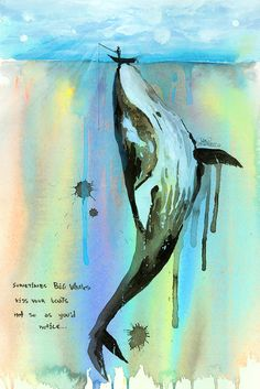 Whalelala by Lora Zombie - Fine Art Prints Available at Eyes On Walls http://www.eyesonwalls.com/collections/fine-art-prints