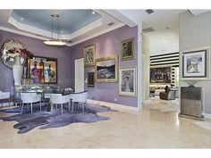 Purple Contemporary Dining - Norman Estates in Tiburon | Naples, Fl