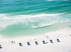 Beach at Sandestin... white sand and emerald green water