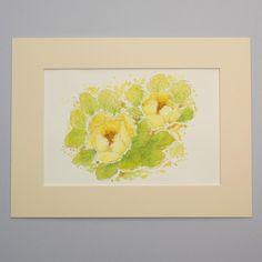Original Watercolour Painting 'Yellow Peony' £48.00