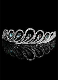 DressilyMe Bridal Dresses Online,Wedding Dresses Ball Gown, in stock beautiful alloy rhinestones tiara for your wedding dress Peacock Theme, Peacock Wedding, Bling Wedding, Purple Wedding, Our Wedding, Dream Wedding, Rustic Wedding, Wedding Accessories, Hair Accessories