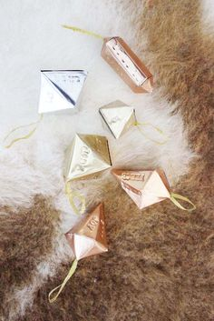 Poppytalk: DIY Metalworked Hand Stamped Geometric Ornaments