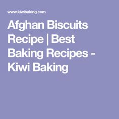 Afghan Biscuits Recipe | Best Baking Recipes - Kiwi Baking