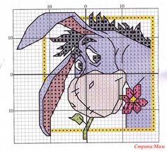 Eeyore Free Cross Stitch Pattern Chart