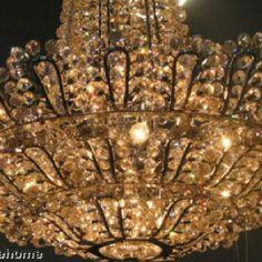 Vintage French crystal chandelier