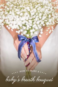 DIY wedding bouquet tutorial with baby's breath and matching boutonniere. Partnership with Budget Savvy Bride, photos by Raleigh photographer, Mikkel Paige. Diy Wedding Bouquet, Diy Bouquet, Diy Wedding Flowers, Bride Bouquets, Bridesmaid Bouquet, Gypsophila Wedding, Homemade Bouquet, Bridesmaids, Flower Diy