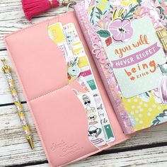 Inside of my pink #zinnydori traveler's notebook from @cze94 is up on my blog www.hautepinkfluff.com! I posted more photos of the pink traveler's notebook, the inserts I used, and some extra storage ideas. There's also a 20% off coupon code for @cze94's entire shop: Vanessa20.