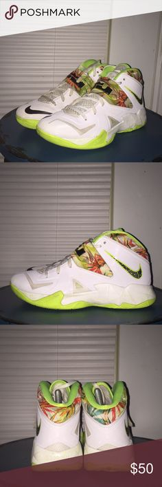 NIKE Zoom Lebron Soldier VII 7 Sz 5.5Y Wo s 7 MISSING SHOES LACES Nike  Shoes Nike Zoom Lebron Soldier VII(7) Sonic Yellow Gamma Blue … 89f5eec5d1ff