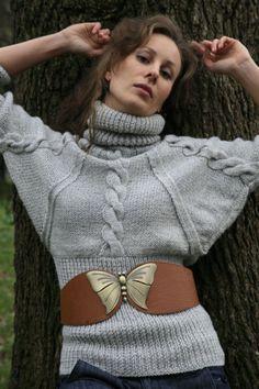Custom Order Handmade Wool Cardigan, Authentic Design Knitwear with Premium Quality Natural Yarns, Hand Knitted Fashion Mature Women Fashion, Bat Sleeve, Cool Sweaters, Fashion Moda, Wool Cardigan, Knitting Designs, Long Sleeve Sweater, Lana, Knitwear