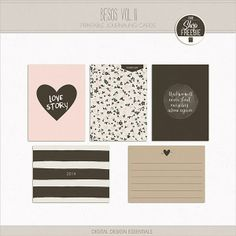 Project Life February Freebie- Besos Vol. II Journaling Cards | Digital Design Essentials