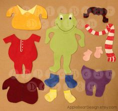 Felt Board Story Set: Froggy Gets Dressed